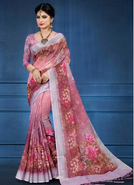 Linen Designer Contemporary Saree For Ceremonial
