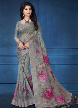 Linen Designer Contemporary Style Saree
