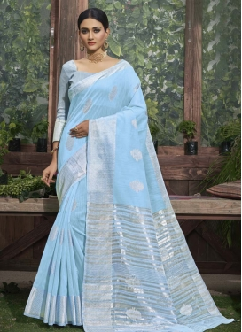 Linen Designer Contemporary Style Saree