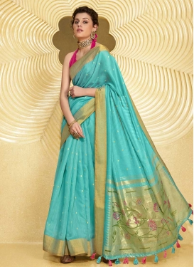 Linen Designer Contemporary Style Saree For Casual
