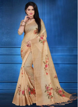 Linen Designer Contemporary Style Saree For Ceremonial