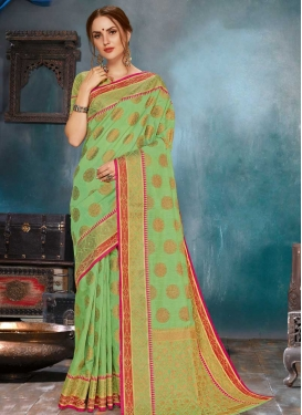 Linen Designer Traditional Saree