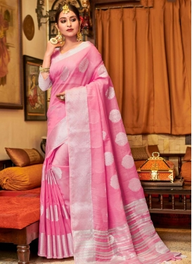 Linen Designer Traditional Saree For Casual