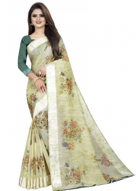 Linen Traditional Designer Saree