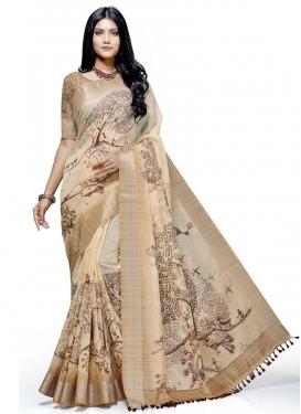 Linen Traditional Designer Saree