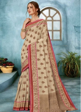 Linen Traditional Designer Saree For Ceremonial