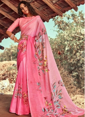 Linen Trendy Classic Saree