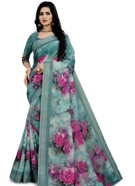 Linen Trendy Classic Saree For Ceremonial