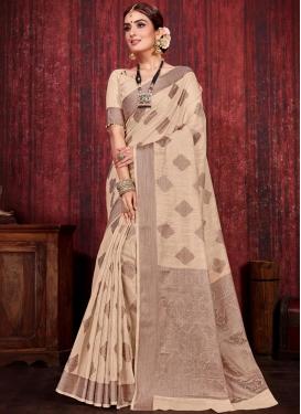 Linen Trendy Saree For Festival