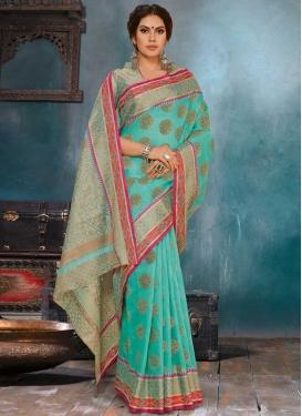 Linen Woven Work Traditional Designer Saree