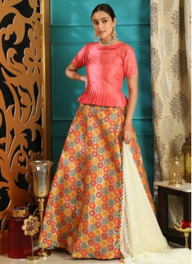 Long Choli Lehenga For Ceremonial