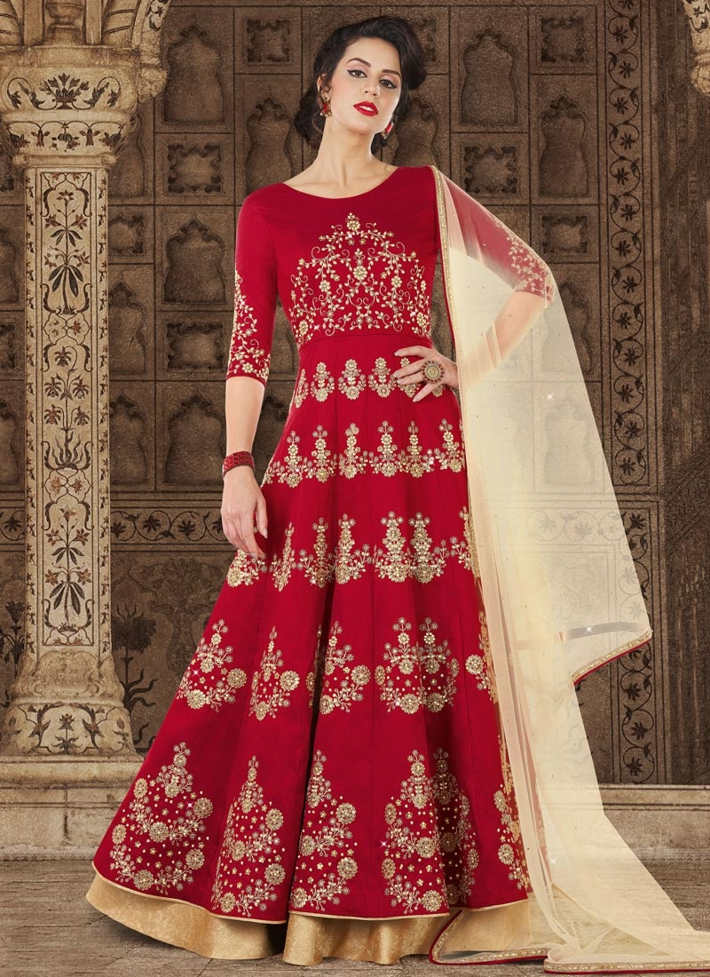 Long Length Anarkali Salwar Suit For Festival