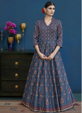 Long Length Anarkali Suit For Festival