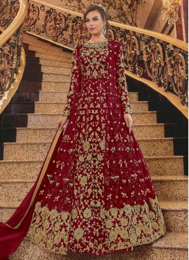 Long Length Designer Anarkali Suit For Bridal