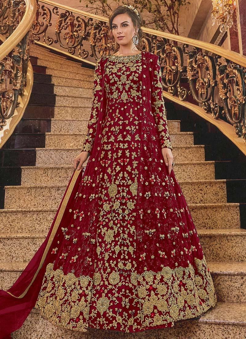 Long Length Designer Anarkali Suit For Bridal