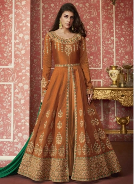 Long Length Layered Salwar Suit For Festival