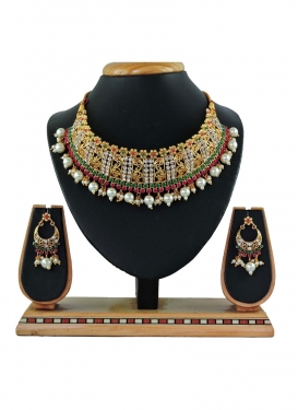 Lordly Beads Work Alloy Necklace Set