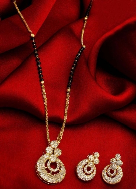 Lordly Beads Work Gold Rodium Polish Mangalsutra Set