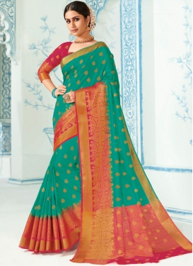 Lovable Sea Green Traditional Designer Saree