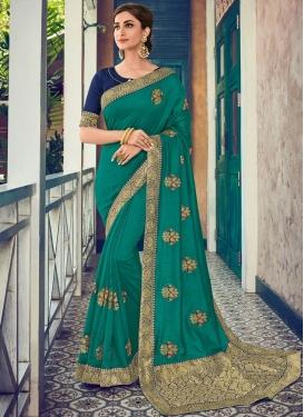 Lovely Sea Green Traditional Designer Saree