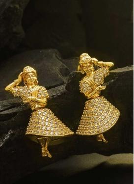 Lovely Stone Work Earrings for Festival
