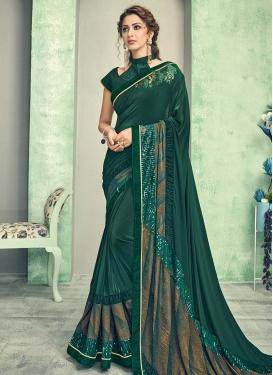 Lycra Cutdana Work Trendy Classic Saree