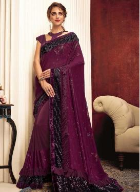 Lycra Designer Contemporary Saree