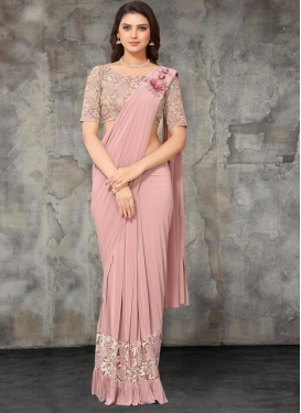 Lycra Designer Contemporary Saree