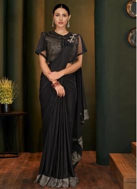 Lycra Designer Contemporary Saree For Festival