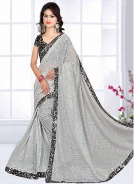Lycra Designer Contemporary Style Saree