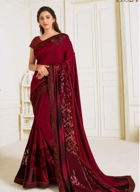 Lycra Traditional Designer Saree