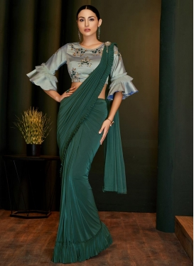 Lycra Traditional Designer Saree For Party