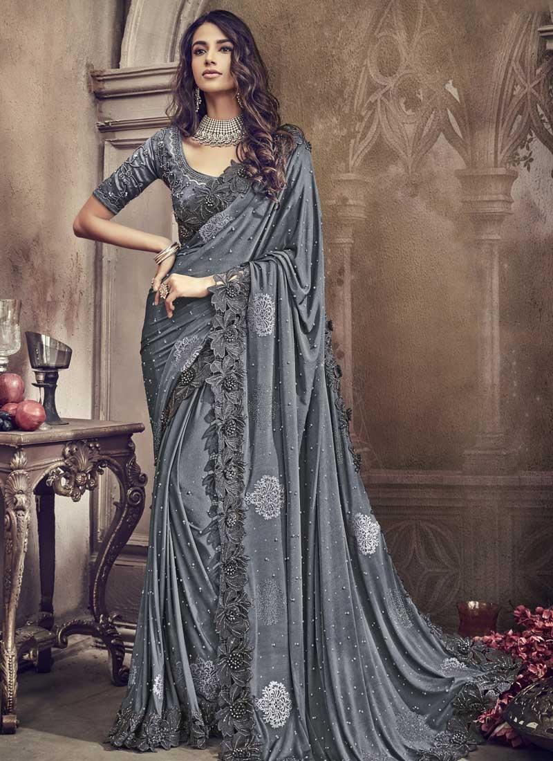 Lycra Trendy Designer Saree