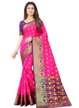 Magenta and Purple Designer Traditional Saree For Festival