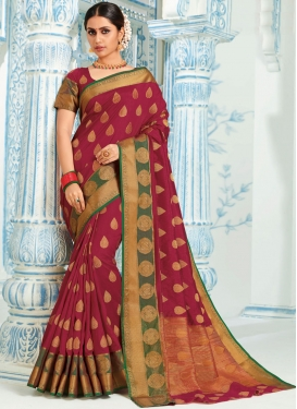 Magenta Weaving Designer Traditional Saree