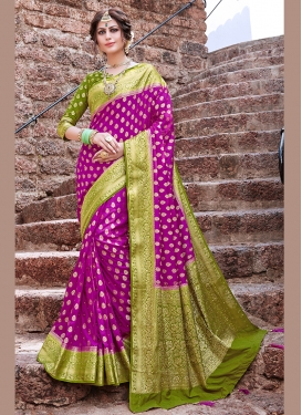 Magenta Weaving Festival Designer Traditional Saree