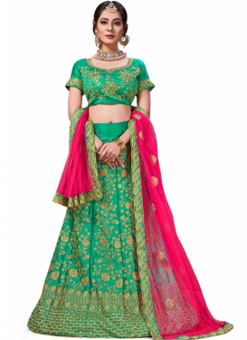 Magnetize Embroidered Sea Green Trendy Lehenga Choli