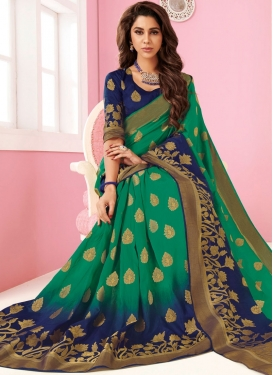 Magnetize Sea Green Weaving Designer Traditional Saree