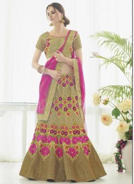 Majestic Aari Work Designer A Line Lehenga Choli