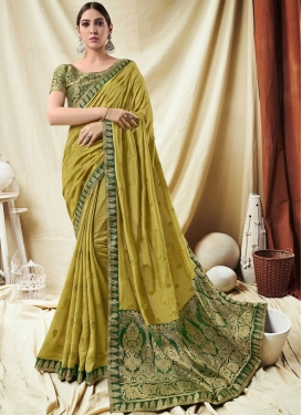 Majestic Art Silk Lace Trendy Saree