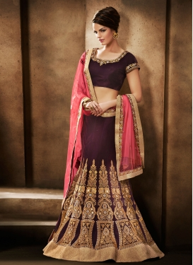 Majestic Booti And Stone Work Lehenga Saree