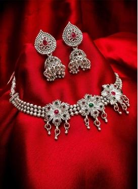 Majesty Oxidized Necklace Set For Festival