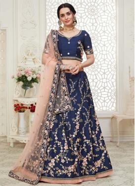Malbari Silk Cutdana Work Trendy A Line Lehenga Choli