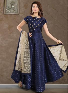Malbari Silk Stone Work Readymade Classic Gown