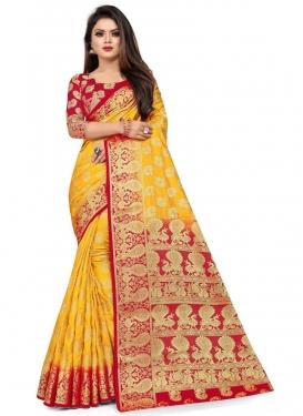 Malbari Silk Trendy Classic Saree For Casual