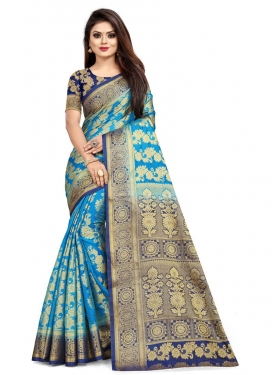 Malbari Silk Woven Work Contemporary Style Saree