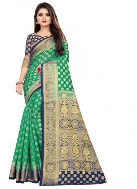 Malbari Silk Woven Work Designer Contemporary Style Saree