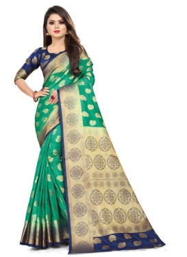 Malbari Silk Woven Work Traditional Designer Saree