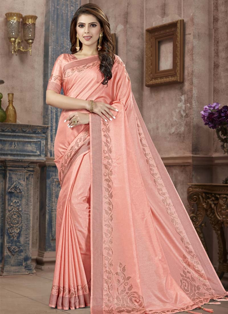 Manipuri Silk Crystal Work Contemporary Style Saree