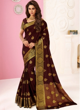 Maroon Color Traditional Saree